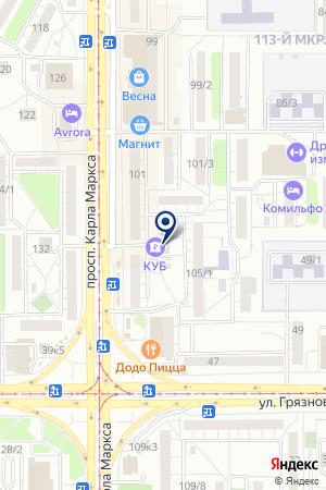 БАНКОМАТ КРЕДИТ УРАЛ БАНК на карте Магнитогорска