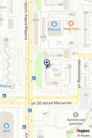 БАНК СБЕРБАНК N1693/087 МАГНИТОГОРСКОЕ ОТДЕЛЕНИЕ (ДОПОЛНИТЕЛЬНЫЙ ОФИС) на карте Магнитогорска