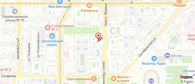 Карта расположения пункта доставки Магнитогорск Ленина в городе Магнитогорск