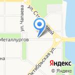 Чайная лодка на карте Магнитогорска