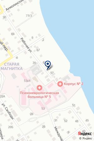 МАГАЗИН ВОДОГРЕЙКИН на карте Магнитогорска