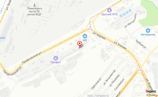 Карта расположения пункта доставки DPD Pickup в городе Магнитогорск