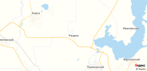 Ржавка на карте