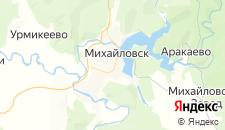 Гостиницы города Михайловск на карте