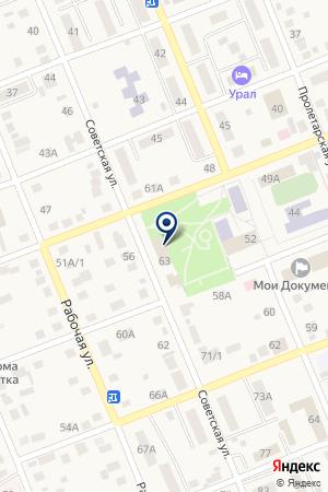 Шиномонтажная мастерская на Советской на карте Агаповки