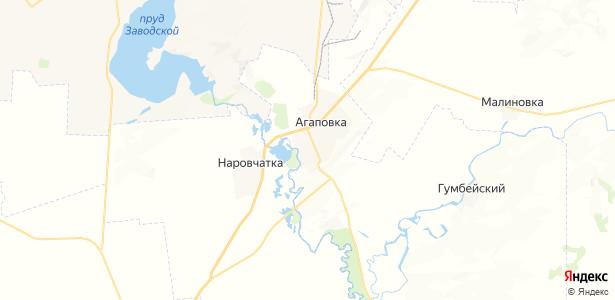 Агаповка на карте