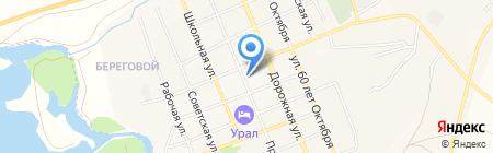 Кафе на ул. Пролетарской на карте Агаповки