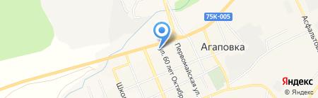 Магазин продуктов на карте Агаповки