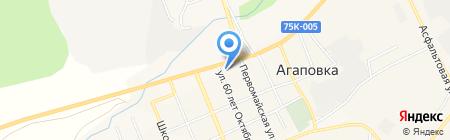 Сеть продуктовых магазинов на карте Агаповки