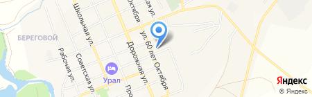 Агаповское на карте Агаповки