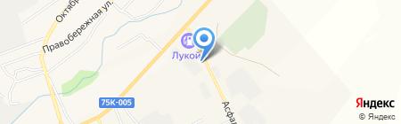 АЗС Башойл на карте Агаповки
