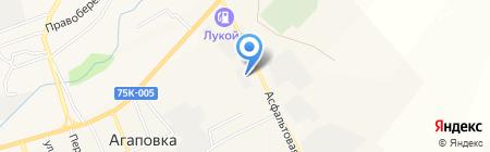 Агаповский завод профнастила на карте Агаповки