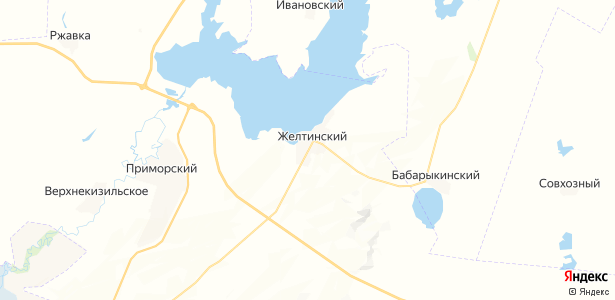 Желтинский на карте
