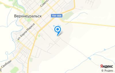 Местоположение на карте пункта техосмотра по адресу Челябинская обл, г Верхнеуральск, ул Энгельса, д 1З