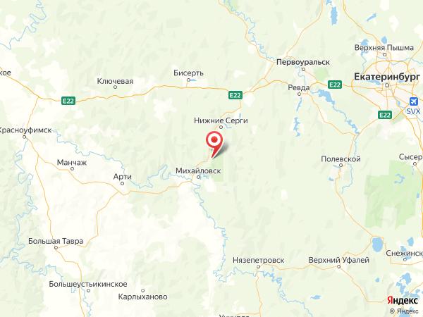 поселок Бажуково на карте
