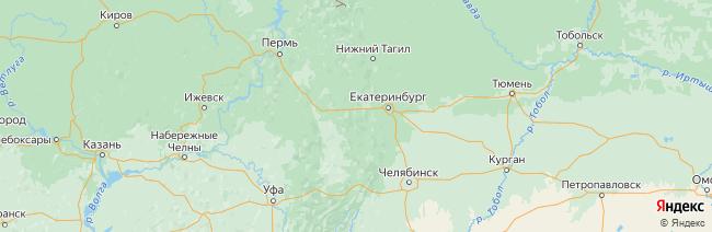 Нижние Серги на карте