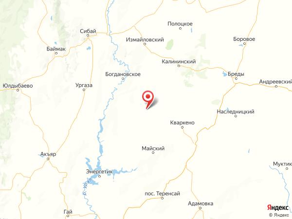село Просторы на карте