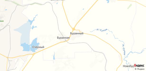 Буранный на карте