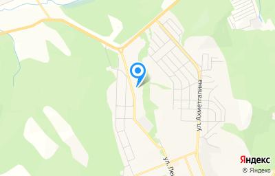 Местоположение на карте пункта техосмотра по адресу Респ Башкортостан, г Учалы, ул Кунакбаевская, зд 12А