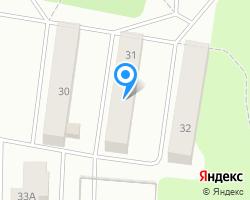 Схема местоположения почтового отделения 624354