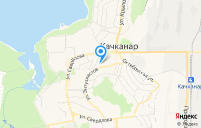 Местоположение на карте пункта техосмотра по адресу Свердловская обл, г Качканар, мкр 4, д 63