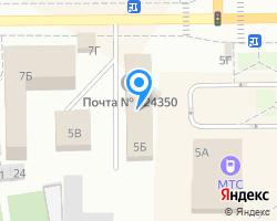 Схема местоположения почтового отделения 624350
