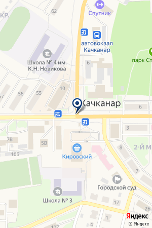 ГАРАНТ-КАЧКАНАР на карте Качканара