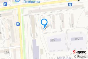 Двухкомнатная квартира в Качканаре Свердловская область, Качканар, 6А микрорайон, 6