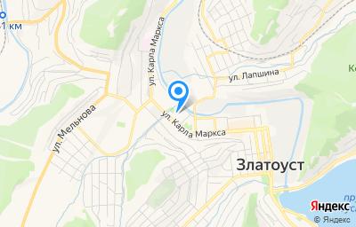 Местоположение на карте пункта техосмотра по адресу Челябинская обл, г Златоуст, ул им Карла Маркса, д 26, пом 4