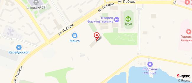 Карта расположения пункта доставки Билайн в городе Лесной