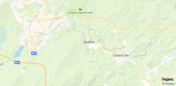 Хребет на карте
