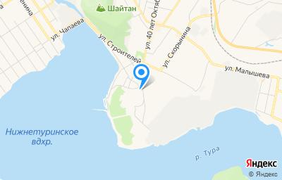 Местоположение на карте пункта техосмотра по адресу Свердловская обл, г Нижняя Тура, ул Нагорная, д 1