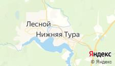 Отели города Нижняя Тура на карте