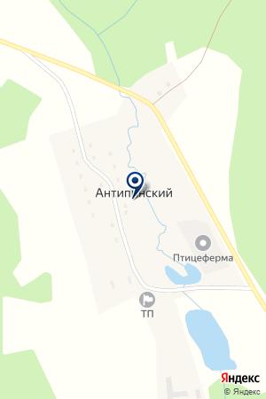 АДМИНИСТРАЦИЯ ПОС. АНТИПИНСКИЙ на карте Карпинска