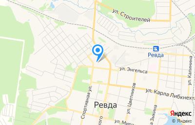 Местоположение на карте пункта техосмотра по адресу Свердловская обл, г Ревда, ул Энгельса, д 57