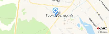 Уральский банк Сбербанка России на карте Горноуральского