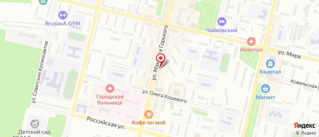 Карта расположения пункта доставки Westfalika в городе Ревда