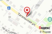 Схема проезда до компании Уральские Технологии Древесного Угля в Нижнем Тагиле