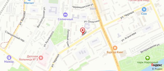 Карта расположения пункта доставки Нижний Тагил Черных в городе Нижний Тагил