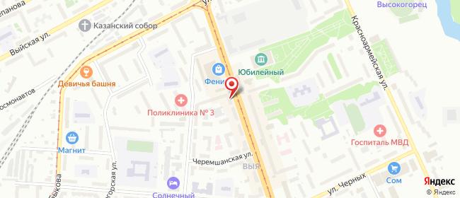 Карта расположения пункта доставки Билайн в городе Нижний Тагил