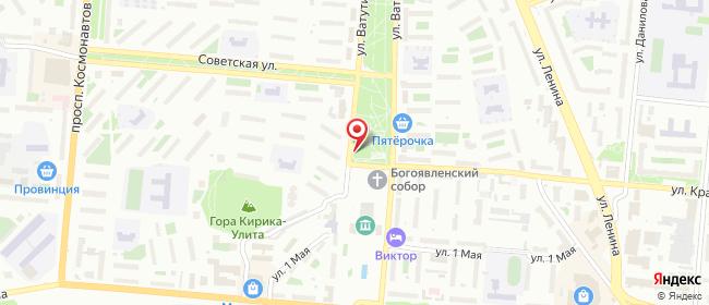 Карта расположения пункта доставки Билайн в городе Первоуральск