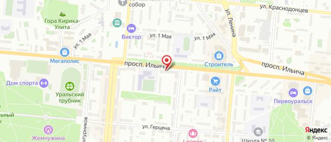 Карта расположения пункта доставки Westfalika в городе Первоуральск