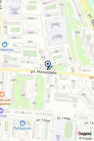 ПРОИЗВОДСТВЕННЫЙ УЧАСТОК PALMETTA (ПАЛЬМЕТТА) на карте Первоуральска