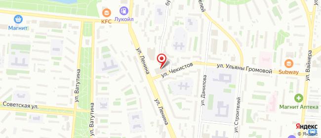 Карта расположения пункта доставки Первоуральск Ленина в городе Первоуральск