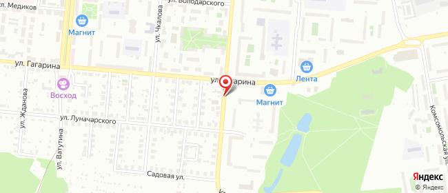 Карта расположения пункта доставки СИТИЛИНК в городе Первоуральск
