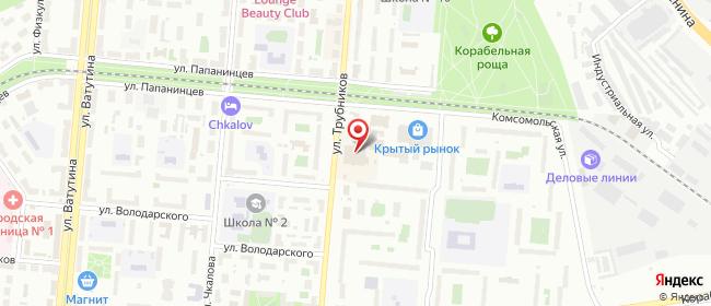 Карта расположения пункта доставки Первоуральск Трубников в городе Первоуральск