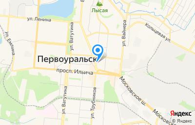 Местоположение на карте пункта техосмотра по адресу Свердловская обл, г Первоуральск, ул Ленина, д 2А