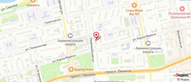 Карта расположения пункта доставки Ростелеком в городе Нижний Тагил
