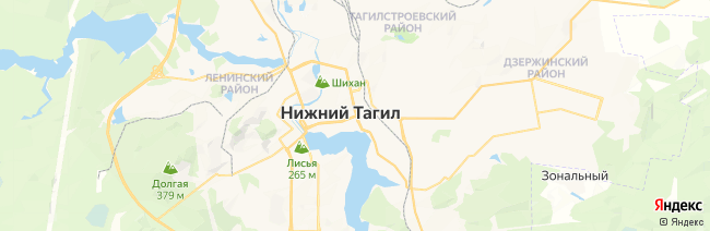 Нижний Тагил на карте