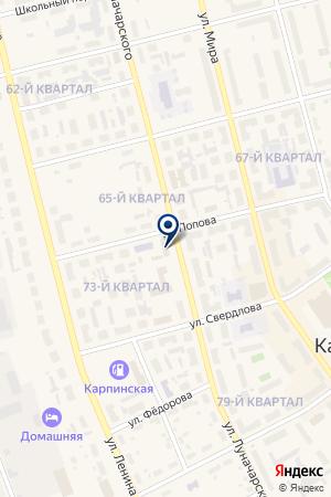 ЧАСТНОЕ ОХРАННОЕ ПРЕДПРИЯТИЕ АЛЬФА-К на карте Карпинска